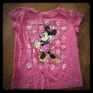 PINK MINNIE MOUSE TSHIRT SIZE 5/6 🎀